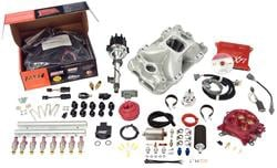 Fuel Injection System, XFI 2.0, Intake Manifold, Rails, Throttle Body, Injectors, Chevy, Small Block, Kit